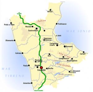 Mapa de Cosenza