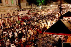 Festa de rua da Nossa Senhora da Acheropita em São Paulo
