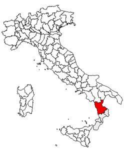 Localização de Cosenza
