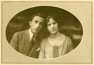 O jovem casal Caetano e Conceição Otranto